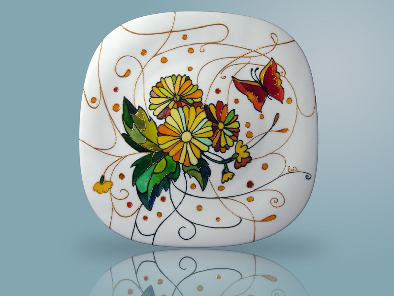Картинки росписи по стеклу и керамики